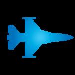 Jet plane vector