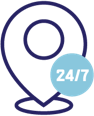 24/7 monitoring and support